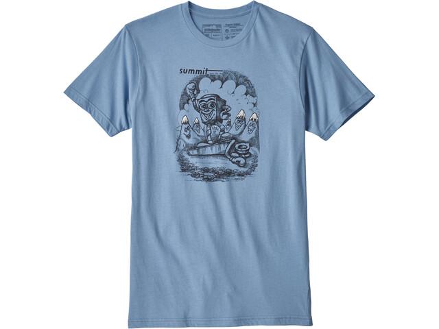 Patagonia Nut vs. Piton Organic t-shirt Heren blauw